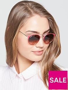 ray-ban-double-bridge-sunglasses-pink