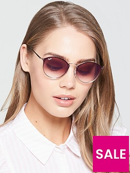 ray-ban-blaze-round-sunglasses-brown