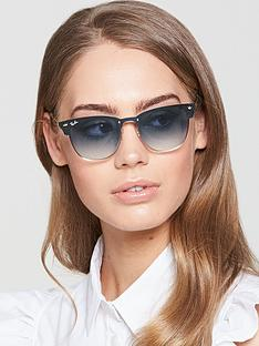 ray-ban-blaze-clubmaster-sunglasses-bluegold