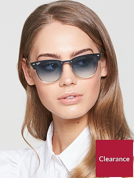 ray-ban-blaze-clubmaster-sunglasses-bluegold