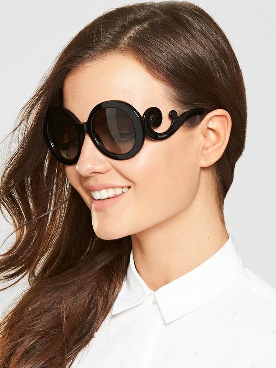 8cf21a5f6531 Prada Minimal Baroque Sunglasses - Black