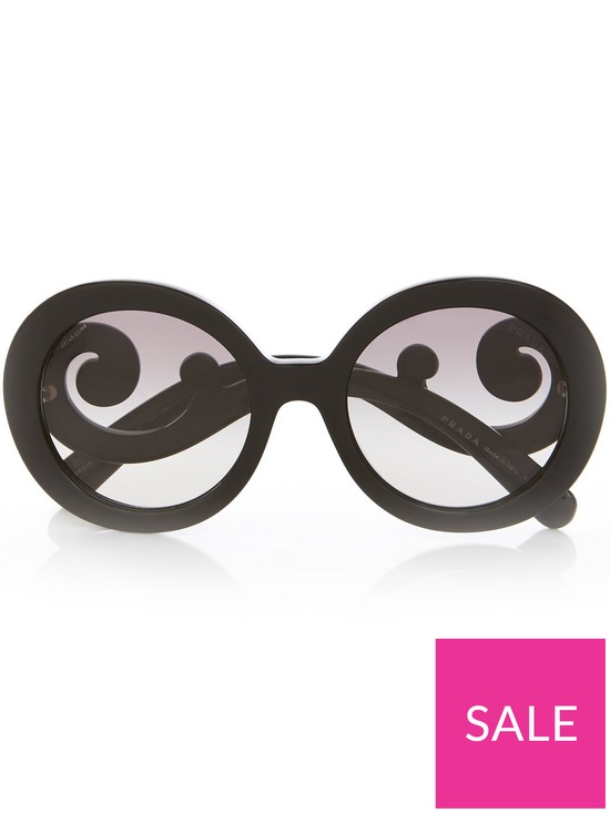 9fdfbb8710 Prada Minimal Baroque Sunglasses - Black | very.co.uk