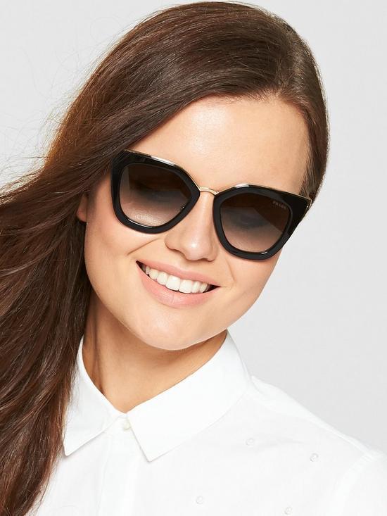 639769cb991 Prada Cateye Sunglasses - Black