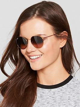 ray-ban-round-metal-sunglasses-brown