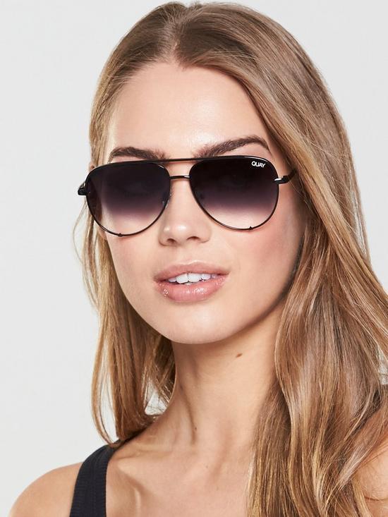 fca931d8ef QUAY AUSTRALIA Quay High Key Mini Black Fade Sunglasses