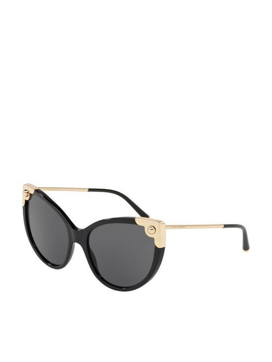 67bbde99a0ee Dolce   Gabbana Cat Eye Metal Corner Sunglasses – Black Gold