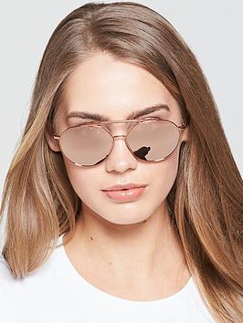 Emporio Armani Aviator Sunglasses - Rose Tone