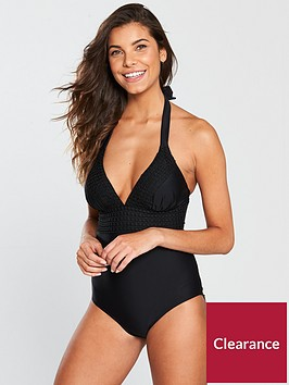 v-by-very-crochet-trim-swimsuit-black