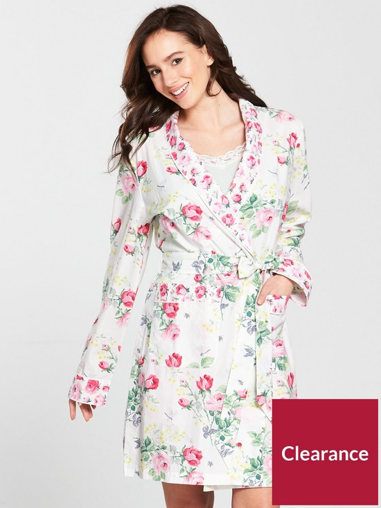 Cath Kidston Belsize Bouquet Dressing Gown | very.co.uk