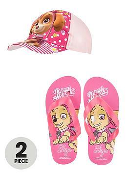 paw-patrol-cap-and-flip-flops