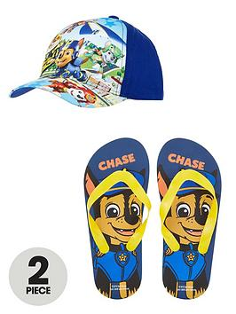 paw-patrol-cap-and-flip-flops