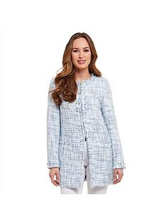 joe-browns-fashionista-tweed-coat-bluewhite