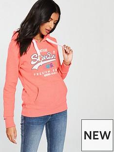 superdry-vintage-logo-tropical-overhead-hoodienbsp--flamingo-coral