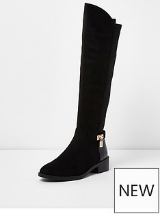 river-island-river-island-flat-over-the-knee-boot--black