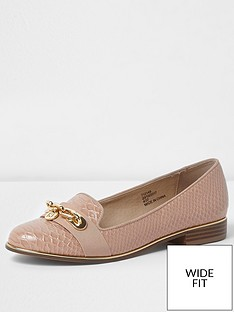 river-island-river-island-wide-fit-chain-snake-embossed-loafers