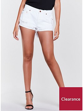 michelle-keegan-denim-short-white