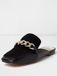 river-island-river-island-upper-leather-chain-backless-loafers