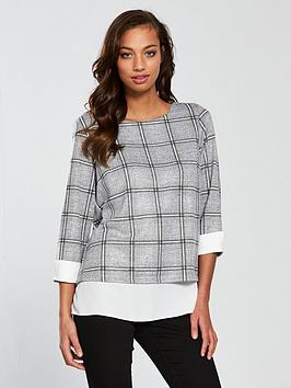 wallis-check-2-in-1-top-grey