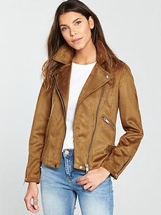 warehouse-suedette-biker-jacket