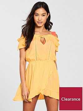 river-island-river-island-wrap-front-beach-dress--yellow