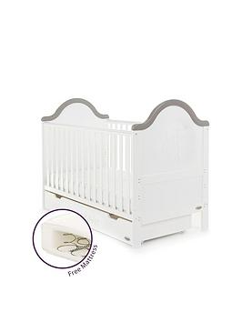 obaby-obaby-b-is-for-bear-cot-bed-amp-under-drawer-and-free-mattress