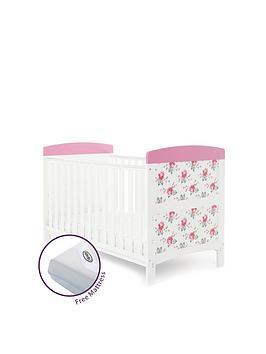 obaby-obaby-cottage-rose-cot-bed-and-free-mattress