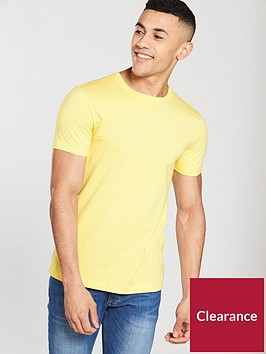 v-by-very-short-sleeve-crew-neck-tee-yellow