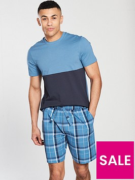 v-by-very-colour-block-tee-amp-check-shorts