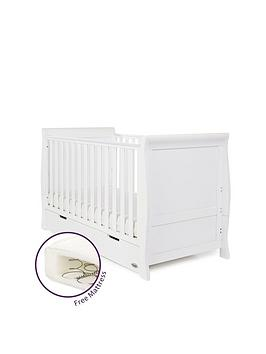 obaby-obaby-stamford-sleigh-cot-bed-and-free-mattress