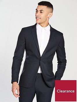 v-by-very-check-slim-blazer--nbspnavy