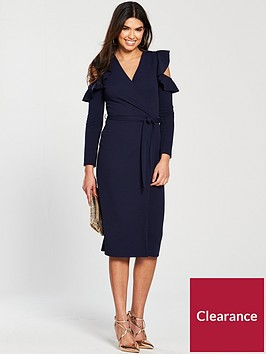 v-by-very-cold-shoulder-frill-detail-jersey-wrap-dress