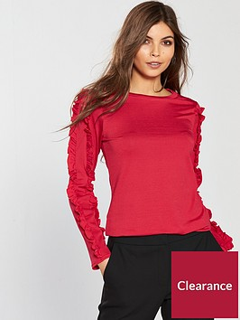 v-by-very-frill-arm-detail-top-rednbsp