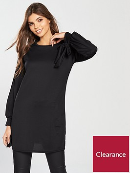 v-by-very-cuff-bow-detail-tunic