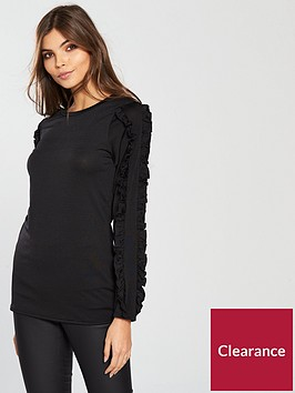 v-by-very-frill-arm-detail-top