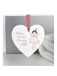 personalised-fairy-wooden-hanging-heart-decoration