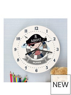 personalised-pirate-wooden-clock