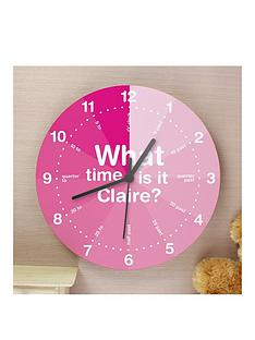 personalised-girls-tell-the-time-wooden-clock