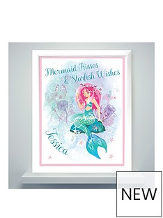 personalised-mermaid-poster-frame