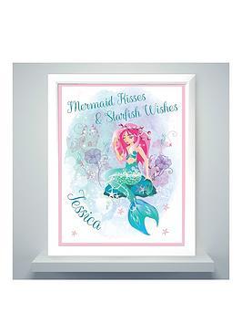 personalised-mermaid-poster-frame