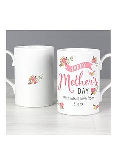 mothers-day-personalised-floral-bouquet-mother039s-day-slim-mug