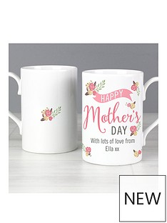 personalised-floral-bouquet-mother039s-day-slim-mug