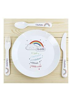 personalised-baby-cloud-plastic-plate-and-cutlery-set