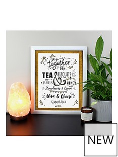personalised-we-go-together-like-black-poster-frame