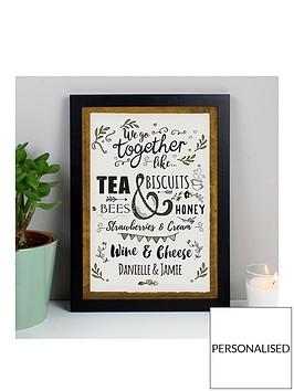 personalised-we-go-together-like-black-poster-frame