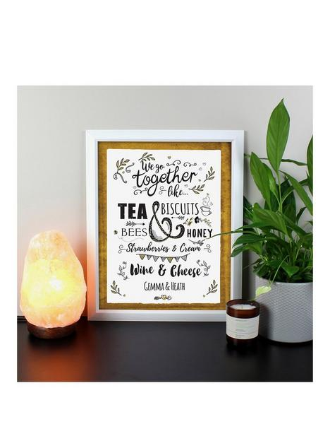 the-personalised-memento-company-personalised-we-go-together-like-black-poster-frame