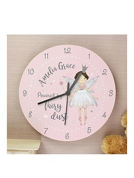 personalised-fairy-wooden-clock