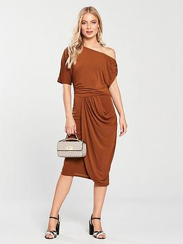 v-by-very-drape-off-the-shoulder-jersey-dress-rust