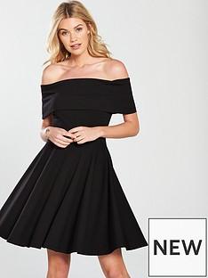 v-by-very-bardotnbspjersey-skater-dress-black