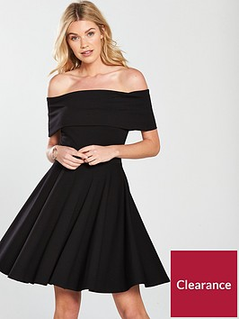 v-by-very-bardotnbspjersey-skater-dress-black
