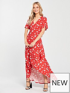 v-by-very-dip-back-wrap-jersey-maxi-dress-red-floral